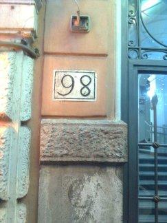 roma, via marsala numero 98