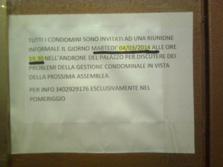 roma, condominio