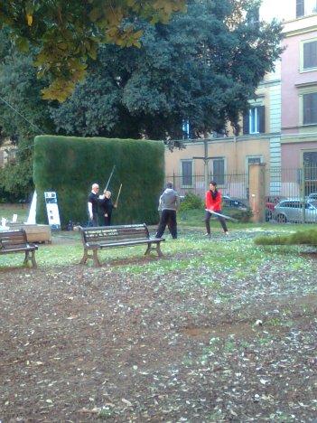 roma, casa dell'architettura, spade