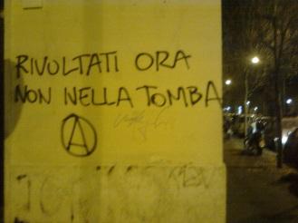 roma, pigneto, rivoltati ora non nella tomba