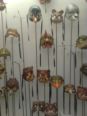 roma, kartaruga maschere artigianali